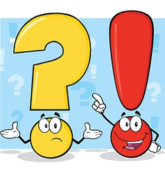 Punctuation cartoon vector