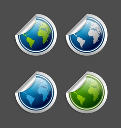Planet earth stickers vector