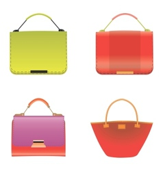 Collection of fashionable womens bags vector