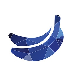Banana icon abstract triangle vector