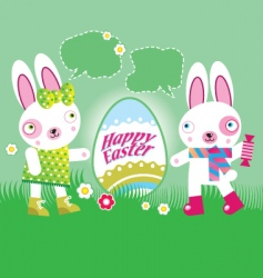 easter happy vector image