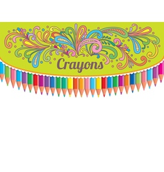 Crayons composition vector