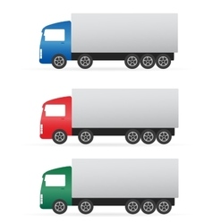Set of colorful heavy truck vector
