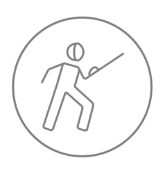 Fencing line icon vector