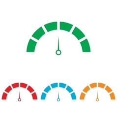 Speedometer sign colorfull set vector