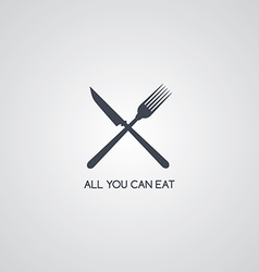 fork knife restaurant logotype vector image