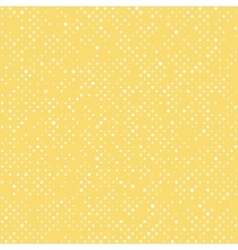 Seamless polka dot yellow pattern with circles vector