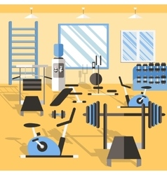 Bodybuilding gym poster vector