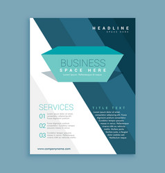 Abstract business brochure design template with vector