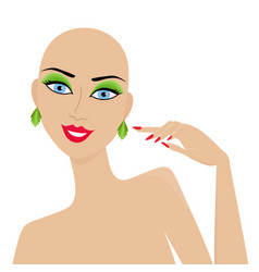Abstract female hairless mannequin vector