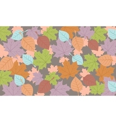 autumn background colored leaves vector image