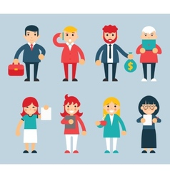 Business Male and Female Characters with vector image vector image
