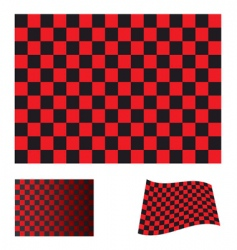 checkered red flag vector image vector image