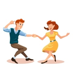 Dancing men and woman vector
