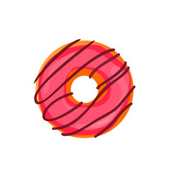 Donut set with sprinkles isolated on white vector