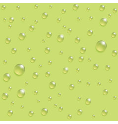 Drops seamless pattern on the green background vector