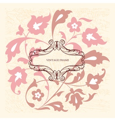 Elegance vintage card with place for text or messa vector image vector image