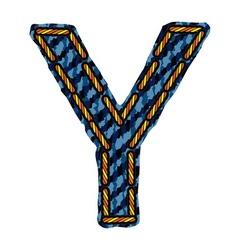 Farmerke tekstura slovo Y resize vector image