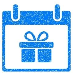 Gift Box Calendar Day Grainy Texture Icon vector image vector image