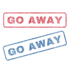 Go away textile stamps vector