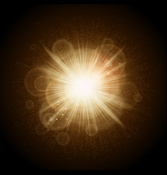 Golden lights christmas vector