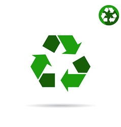 Green eco sign vector image