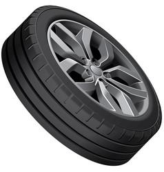 light alloy wheel vector image