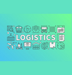 logistics concept vector image vector image