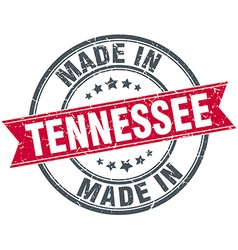 Made in tennessee red round vintage stamp vector