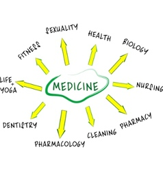 Medicine mind map vector