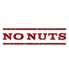 No nuts watermark stamp vector