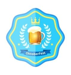 Oktoberfest beer badge vector