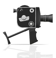 old retro vintage movie video camera 05 vector image