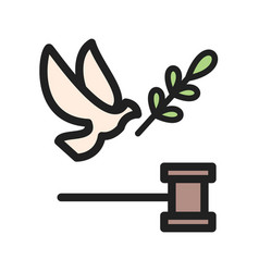 peace and justice vector image