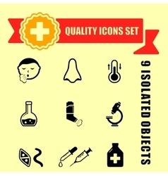 Quality medical illness icons vector