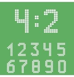 Scoreboard number set vector