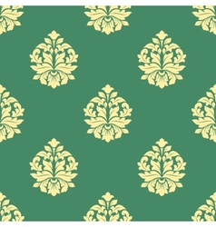 Seamless flourish pattern with dainty buds vector