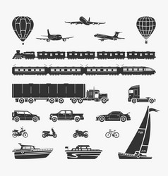set of symbols transport vector image