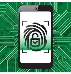 Smartphone fingerprint security vector