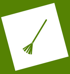 Sweeping broom sign white icon obtained vector