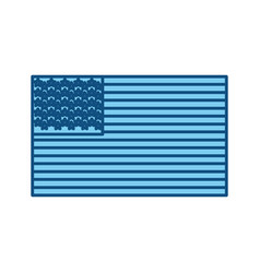 United states flag symbol vector