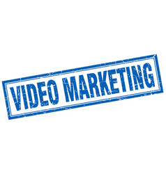 Video marketing square stamp vector