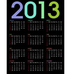 calendar 2013 3 vector image