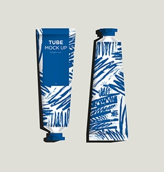 Abstract graphic on tubes packaging vector image
