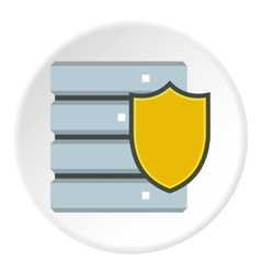 Data security icon flat style vector