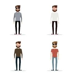 Abstract cute men vector