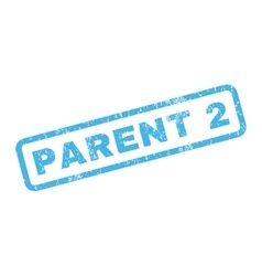 Parent 2 rubber stamp vector
