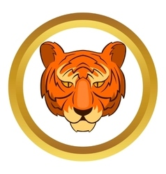 Tiger head icon vector