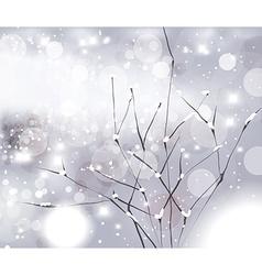 White winter christmas background vector
