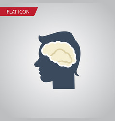 Isolated intellect flat icon brainstorming vector